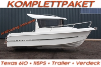 TEXAS 610 KOMPLETT mit 115PS Mercury